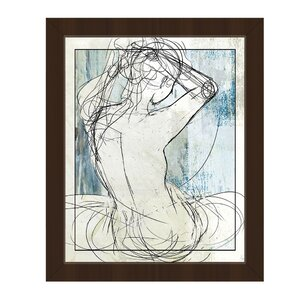 'Woman on Sky' Framed Graphic Art by Click Wall Art