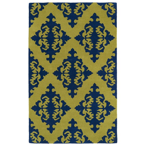 Slovan Wasabi Yellow/Blue Area Rug by Darby Home Co