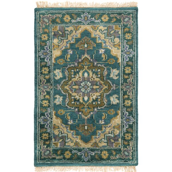 Orland Hand-Knotted Blue Area Rug by Red Barrel Studio
