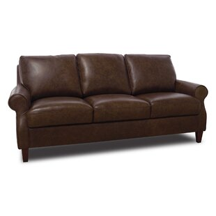 Nyquist Leather Sofa by Loon Peak
