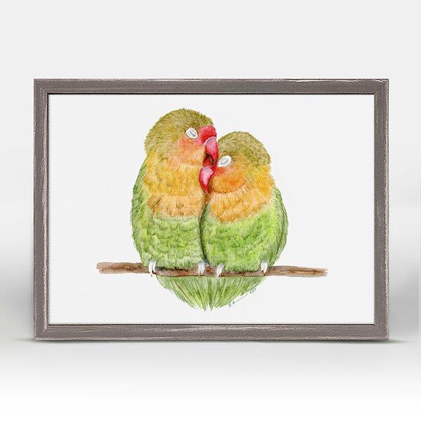 Keyla Love Birds Portrait by Brett Blumenthal Framed Canvas Art by Ebern Designs