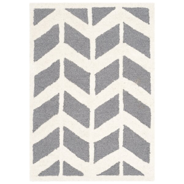 Martins Hand-Woven Wool Dark Gray Area Rug by Wrought Studio