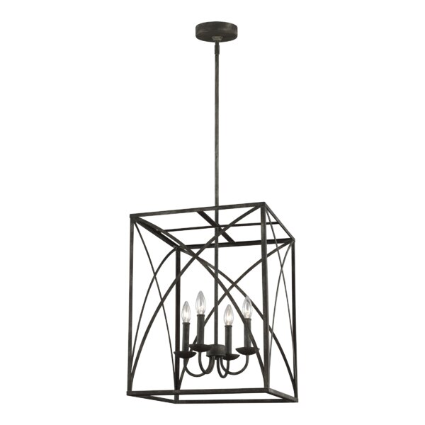 Jalonte 4 - Light Lantern Rectangle Chandelier by Gracie Oaks Gracie Oaks