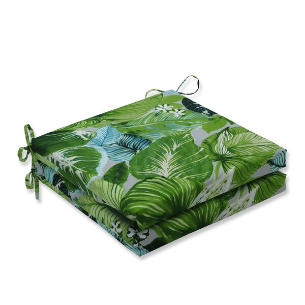 Lush Leaf Jungle Indoor/Outdoor Dining Chair Cushion (Set of 2)
