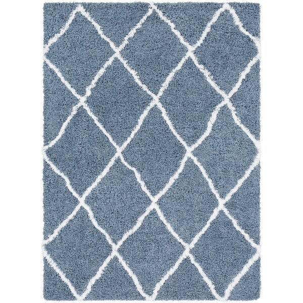 PePPer Geometric Denim/White Area Rug by Union Rustic