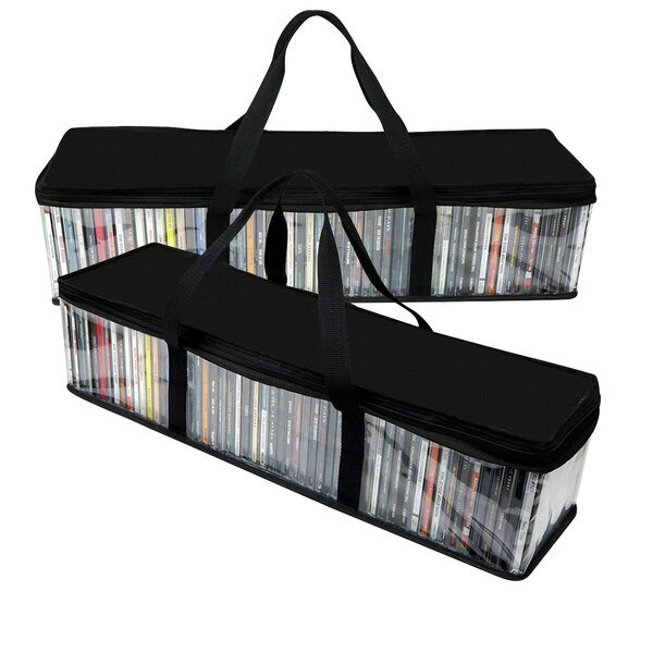 Multimedia CD Storage Bag (Set Of 2) By Evelots
