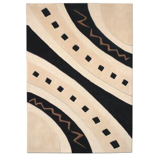 Read Reviews Mystique Ivory/Black Abstract Arches Area Rug ByDynamic Rugs