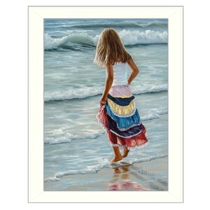 'The Striped Skirt' Framed Painting Print by Trendy Decor 4U