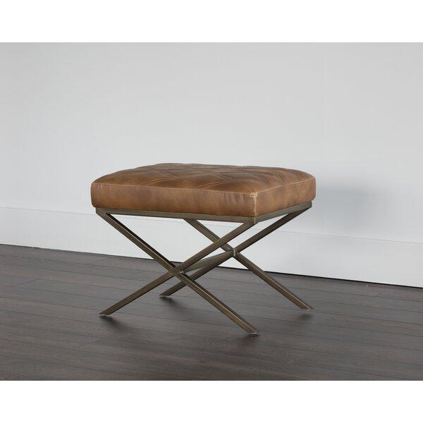 5West Wisconsin Faux Leather Bench by Sunpan Modern