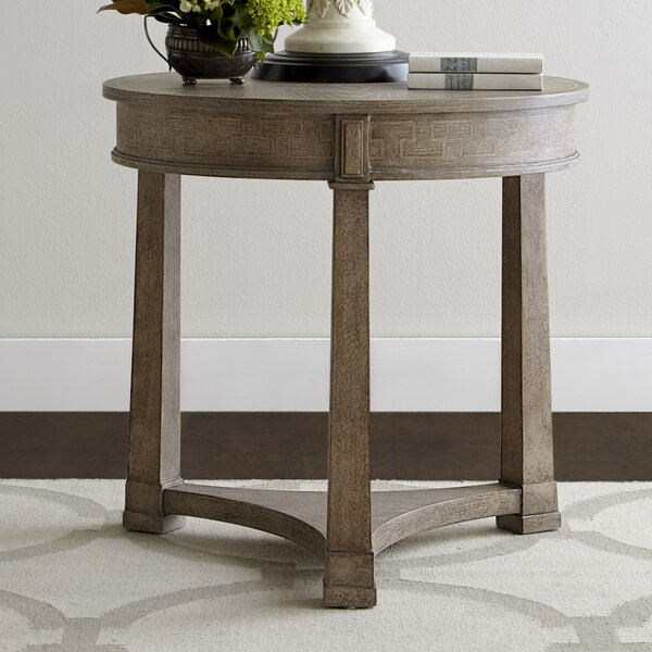 Caelan Round End Table by Ophelia & Co.