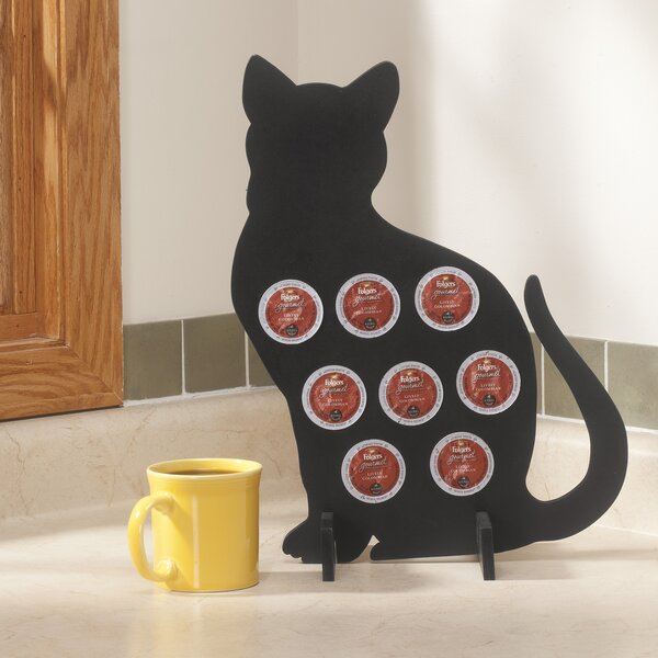 8-Pod Cat Silhouette Coffee Pod Holder by Walter Drake