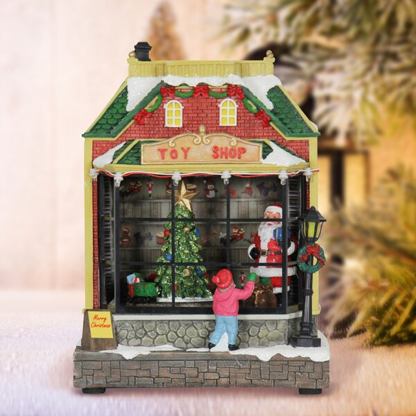 Santa and Animated Train Toy Shop by The Holiday A