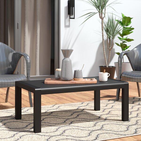 Crosstown Aluminum Coffee Table By Brayden Studio
