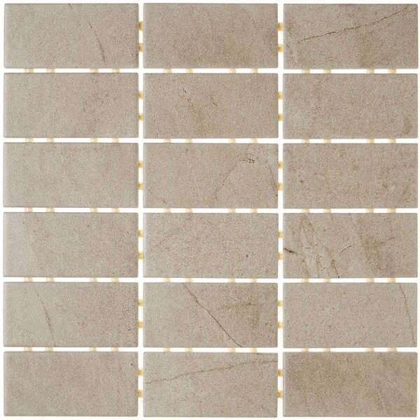 2 x 4 Ceramic Mosaic Tile in Brown by Itona Tile
