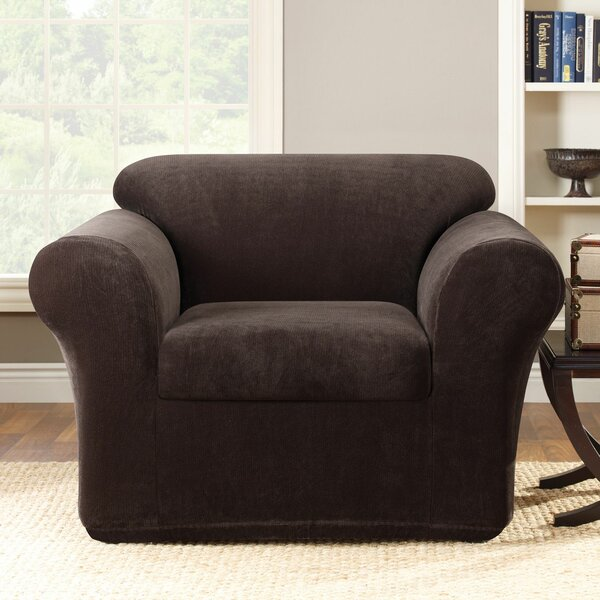 Stretch Metro Box Cushion Armchair Slipcover by Su