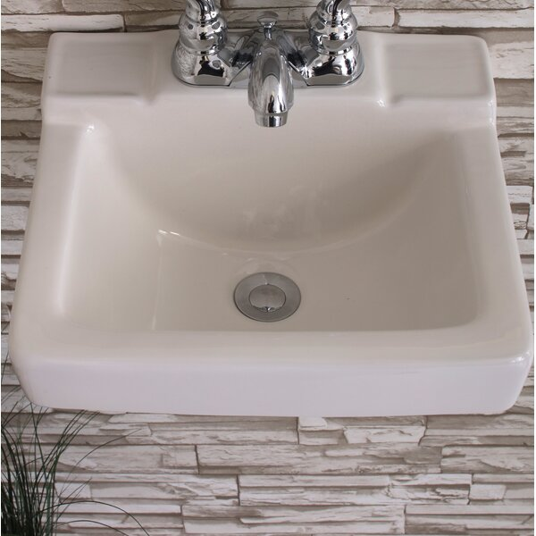 Ceramic 14 Wall Mount Bathroom Sink by Fine Fixtur