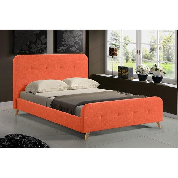 Newport Mid Century Upholstered Platform Bed by George Oliver