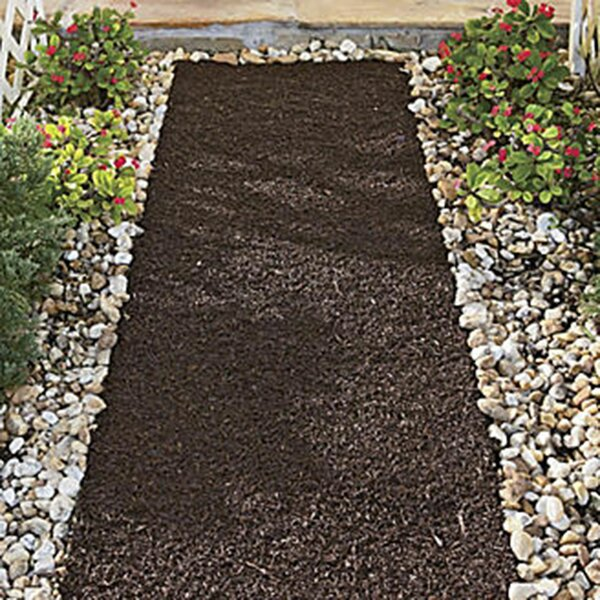Recycled Rubber Reversible Mulch Pathway by Backyard Expressions