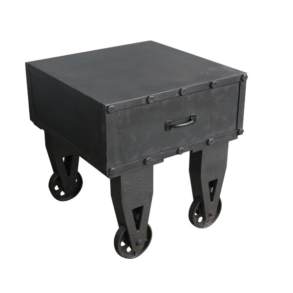 Dominique End Table With Storage By Williston Forge