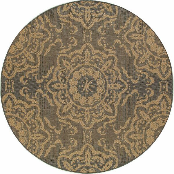 Cazares Gray/Beige Indoor/Outdoor Area Rug by Highland Dunes