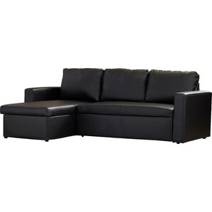 Eleanor 88  Reversible Chaise Sleeper Sectional  sc 1 st  Joss u0026 Main : faux leather sectional - Sectionals, Sofas & Couches
