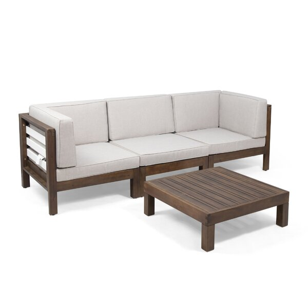 Pena 4 Piece Sofa Seating Group with Cushions by Breakwater Bay