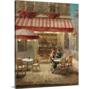 Paris Cafe II by Danhui Nai Painting Print on Wrapped Canvas by Great Big Canvas