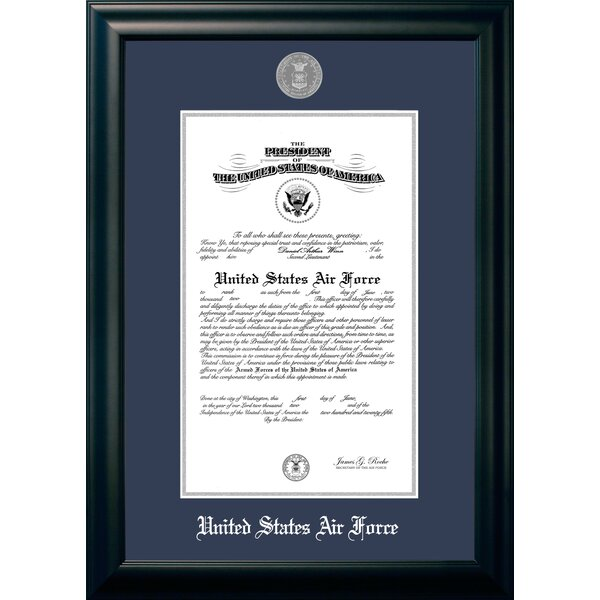 Air Force Certificate Picture Frame by Patriot Frames