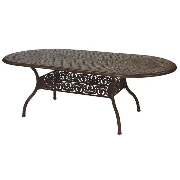 Goncalvo Aluminum Dining Table by Fleur De Lis Living