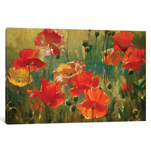 Poppy Fields Painting on Wrapped Canvas by East Urban Home