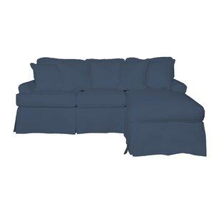 Huguley Slipcovered Reversible Sleeper Sectional