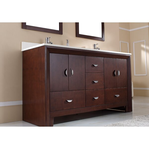 Indigo 61 Double Bathroom Vanity Set by Latitude Run