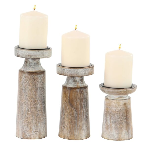 3 Piece Candlestick Set by Union Rustic