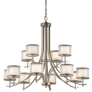 Comparison Ronald 12-Light Shaded Chandelier By Latitude Run