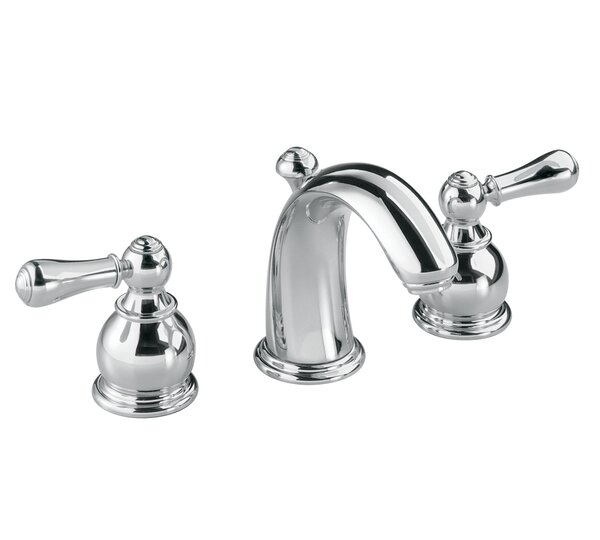 Hampton Widespread Bathroom Faucet with Double Lever Metal Handles by American Standard