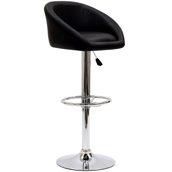 Marshmallow Adjustable Height Swivel Bar Stool by Modway