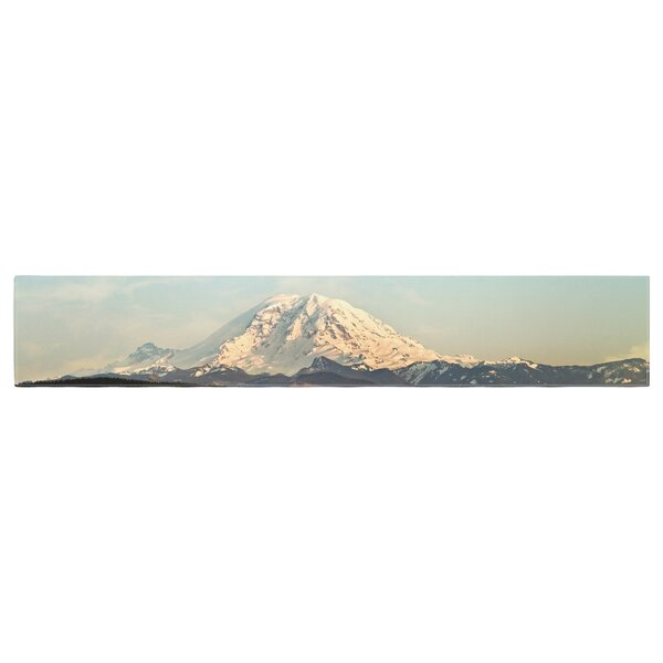 Sylvia Cook Mt. Rainier Mountain Photo Table Runner by East Urban Home