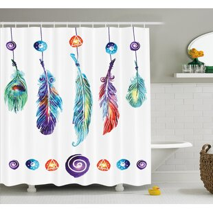 Indian Feather Shower Curtain