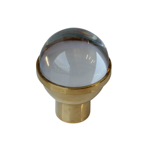 Dome Shaped Clear Crystal Cabinet Knob by RCH Supply Company