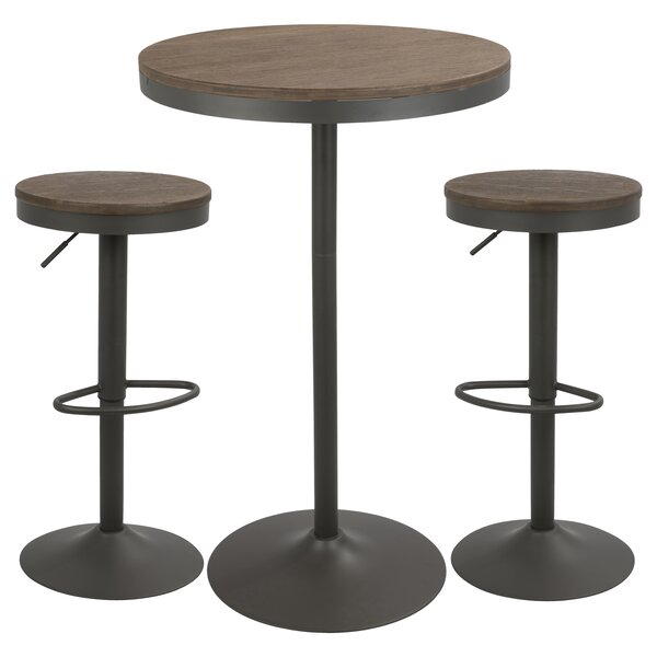 Chambord 3 Piece Pub Table Set by Laurel Foundry Modern Farmhouse