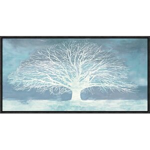 'Aquamarine Tree' by Alessio Aprile Framed Painting Print on Canvas by Global Gallery