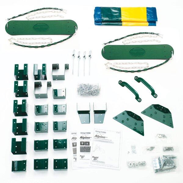 Ready To Build Custom Alpine Swing Set Hardware Kit (Wood Not Included) by Swing-n-Slide
