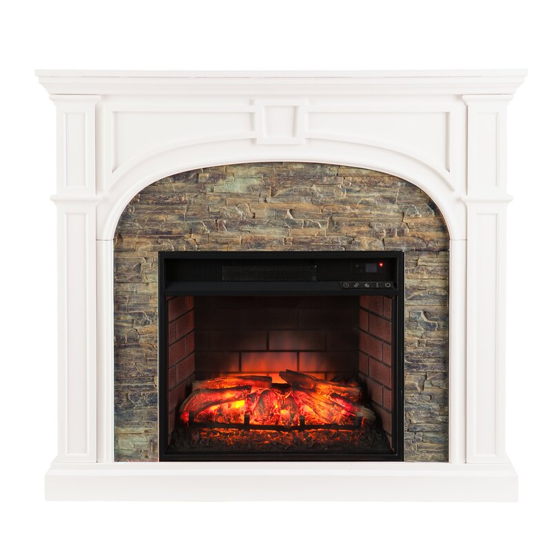 Three Posts Boylston Stacked Infrared Electric Fireplace & Reviews ...