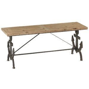 Ariella Anchor Backless Bench by Breakwater Bay