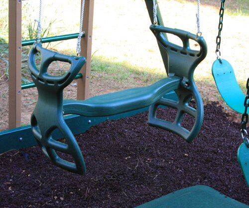 Back to Back Glider with Bracket and Hardware Optional Accessories for Swing Beam by Kidwise