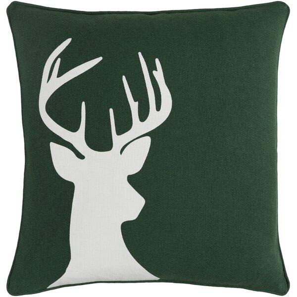 Pirtle Deer Cotton Throw Pillow by Loon Peak