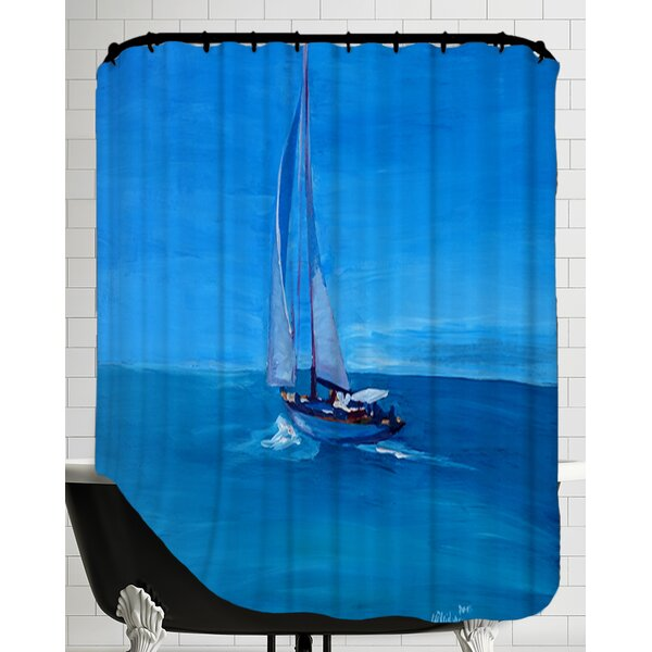 Chesapeake Sailing Into The Blue Shower Curtain by Breakwater Bay