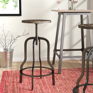 Perignan Adjustable Height Wood Top Bar Stool Home Design Ideas