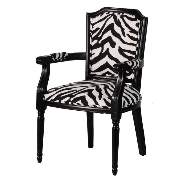 Review Chaudeville Zebra Upholstered Arm Chair