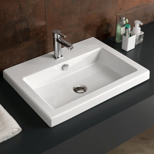 Ceramic 24 Wall Mount Bathroom Sink by Ceramica Tecla by Nameeks